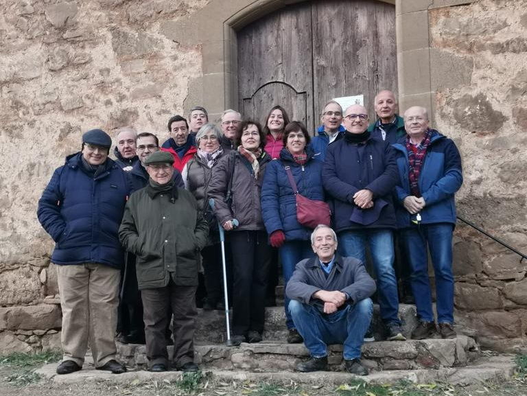 - In front of the Pallerols church in November 2019. Javier is the 1st from the left