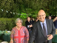 Javier on his 60th anniversary, in October 2019. At his side his wife Isa