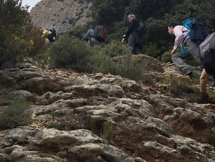 - Climbing the Barranc de la Cabra Morta