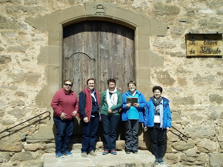 - The group came from Torreciudad in the door of the church of Pallerols