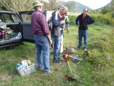 Preparations in the area of the rivers Castellbó and Aravell